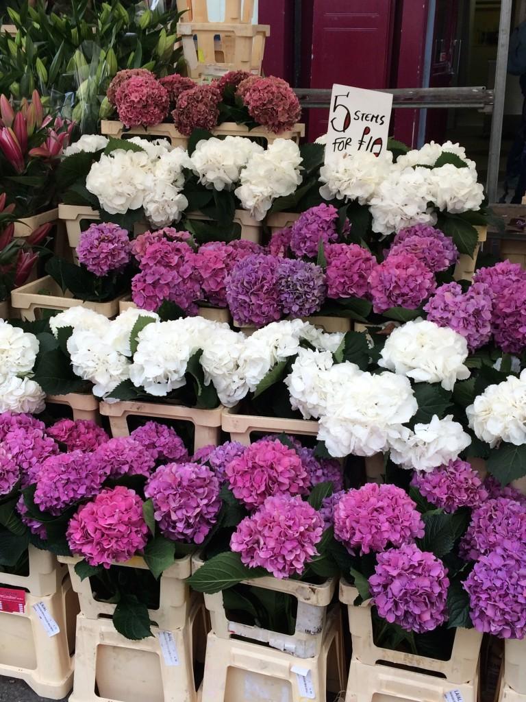 marché aux fleurs à Colombia Road - Londres