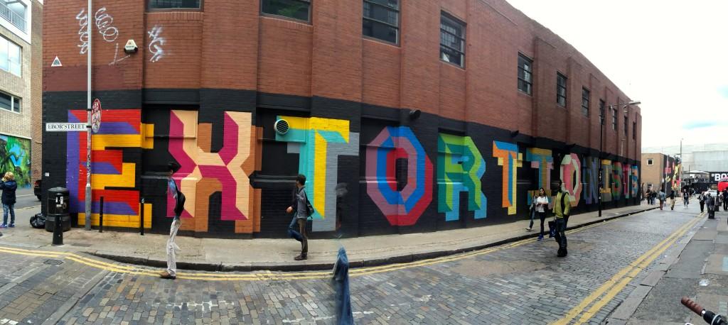Ben Eine - street art Londres