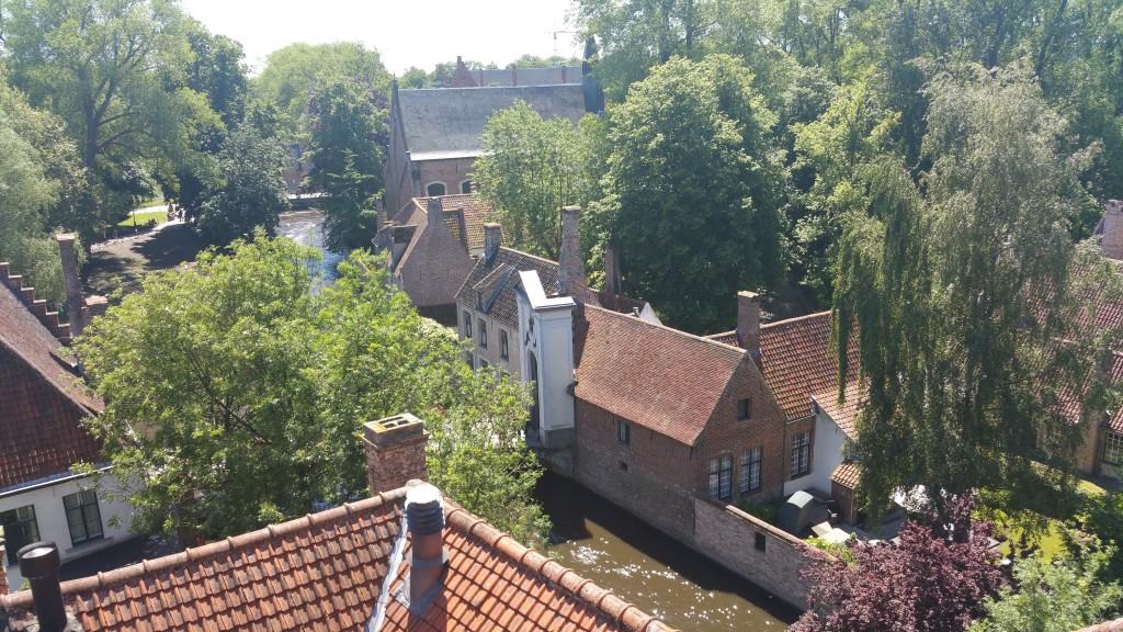 Vue sur les toits de Bruges