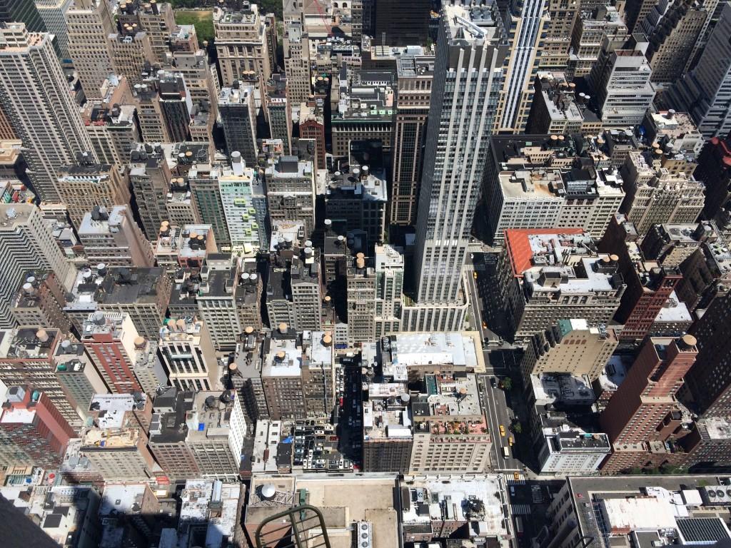 """Vue époustouflante """"façon légo"""" de New York du haut de l'Empire State Building"""