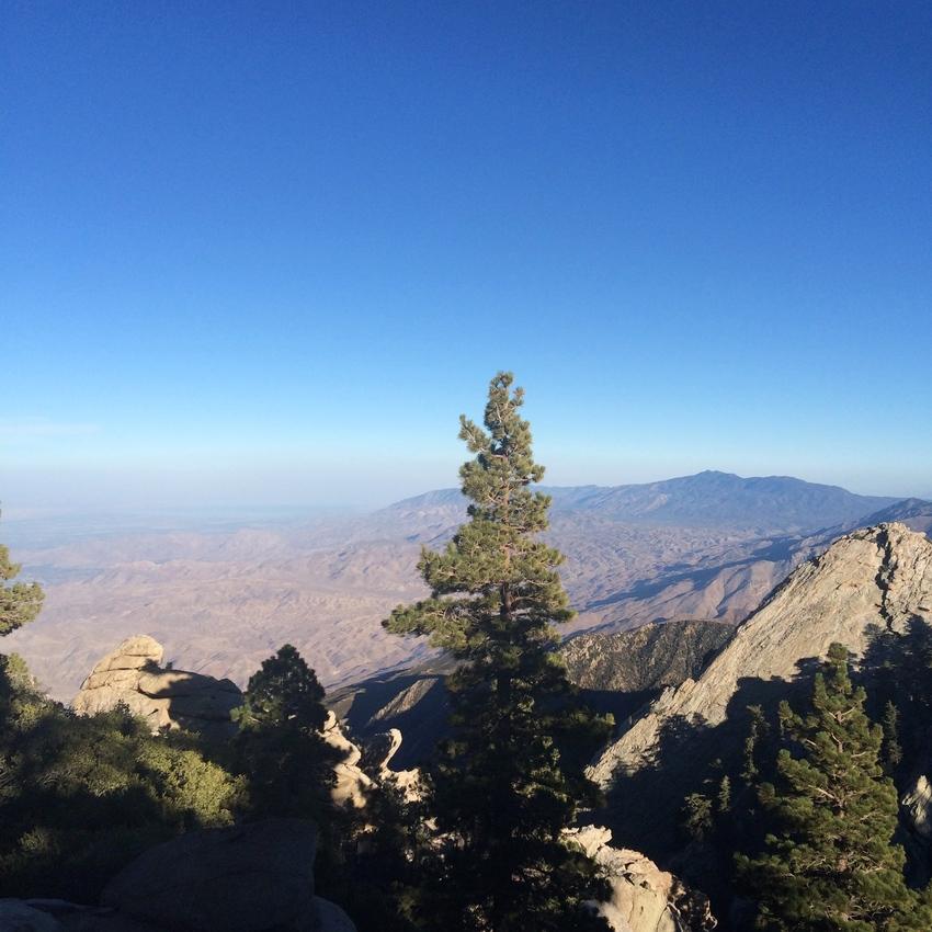 Palm Springs en Californie - vue sur la vallée de Coachella en haut de l'Aerial Tramway
