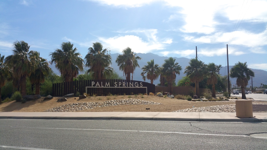 Arrivée à Palm Springs en Californie