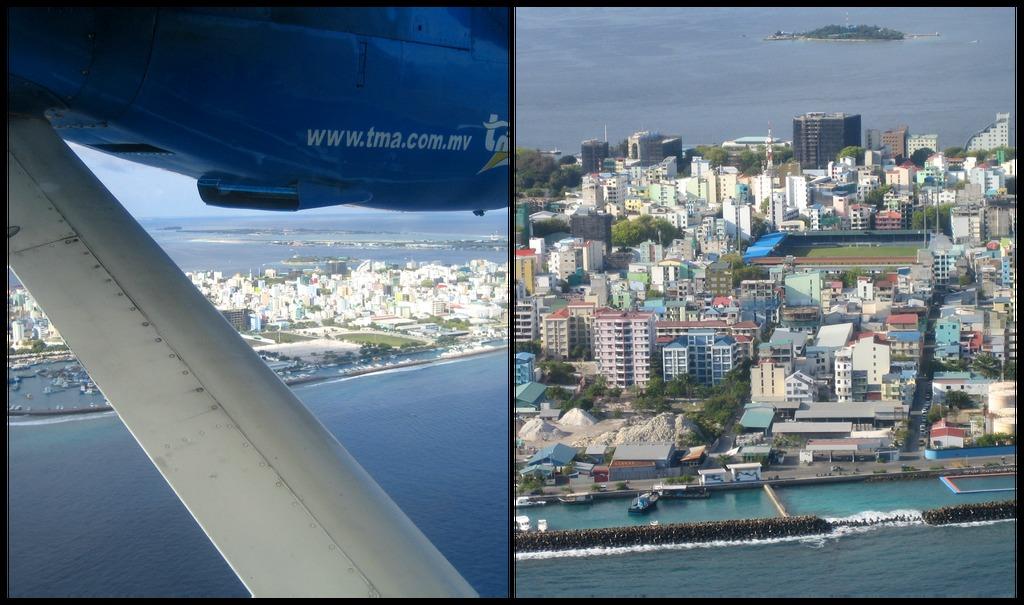 Malé vue du ciel - Maldives
