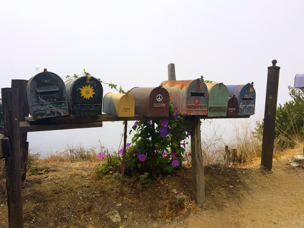 Mailbox sur la route 1 - Big Sur en Californie
