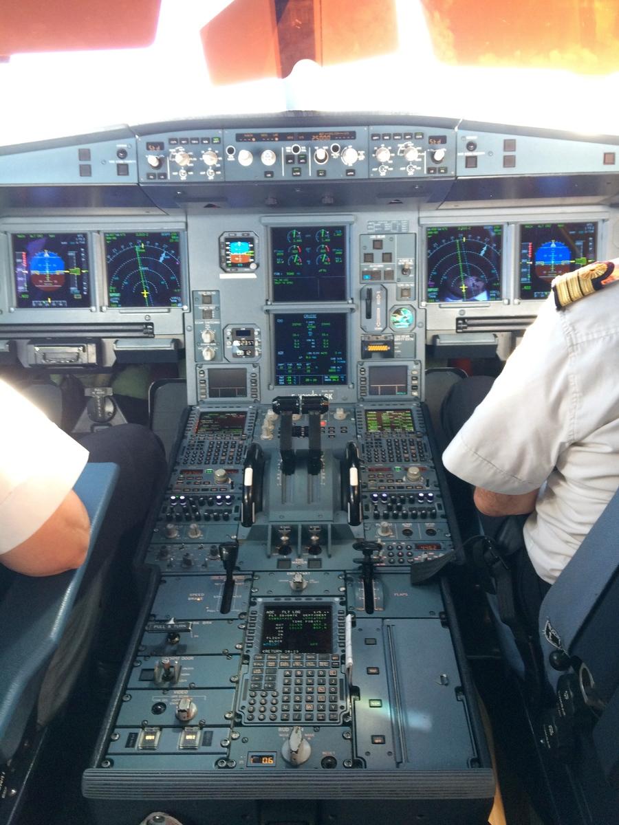 Dans le cockpit d'un airbus A330