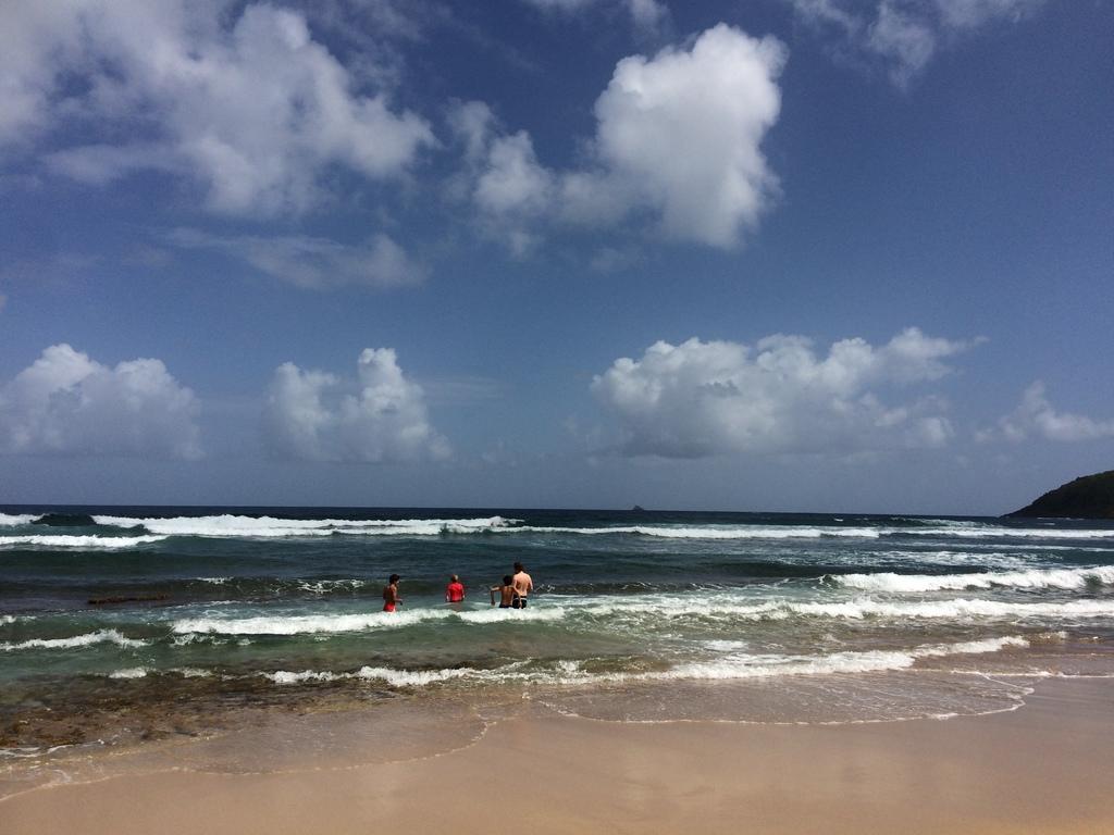 Plage des surfeurs à Anse Bonneville en Martinique