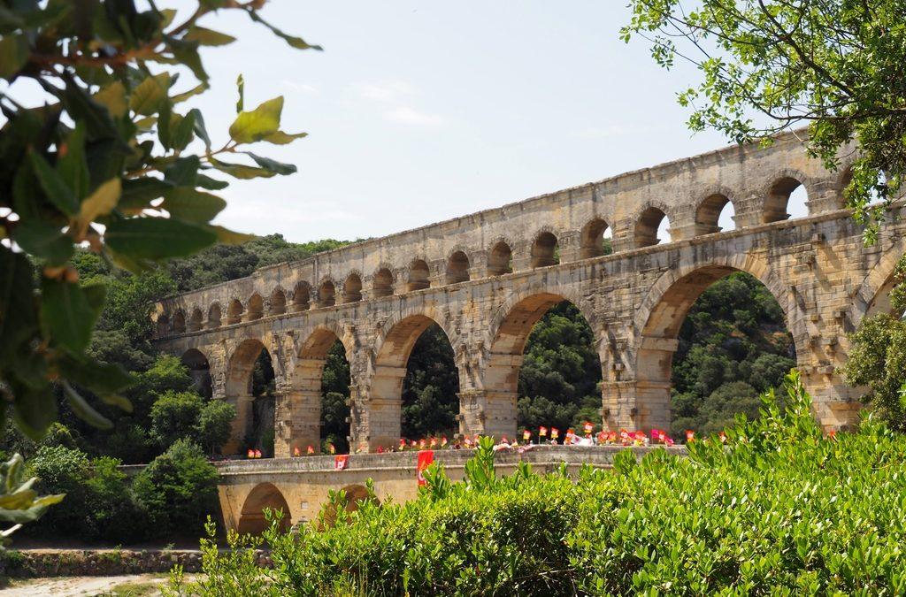 Un week-end d'été près du Pont du Gard…