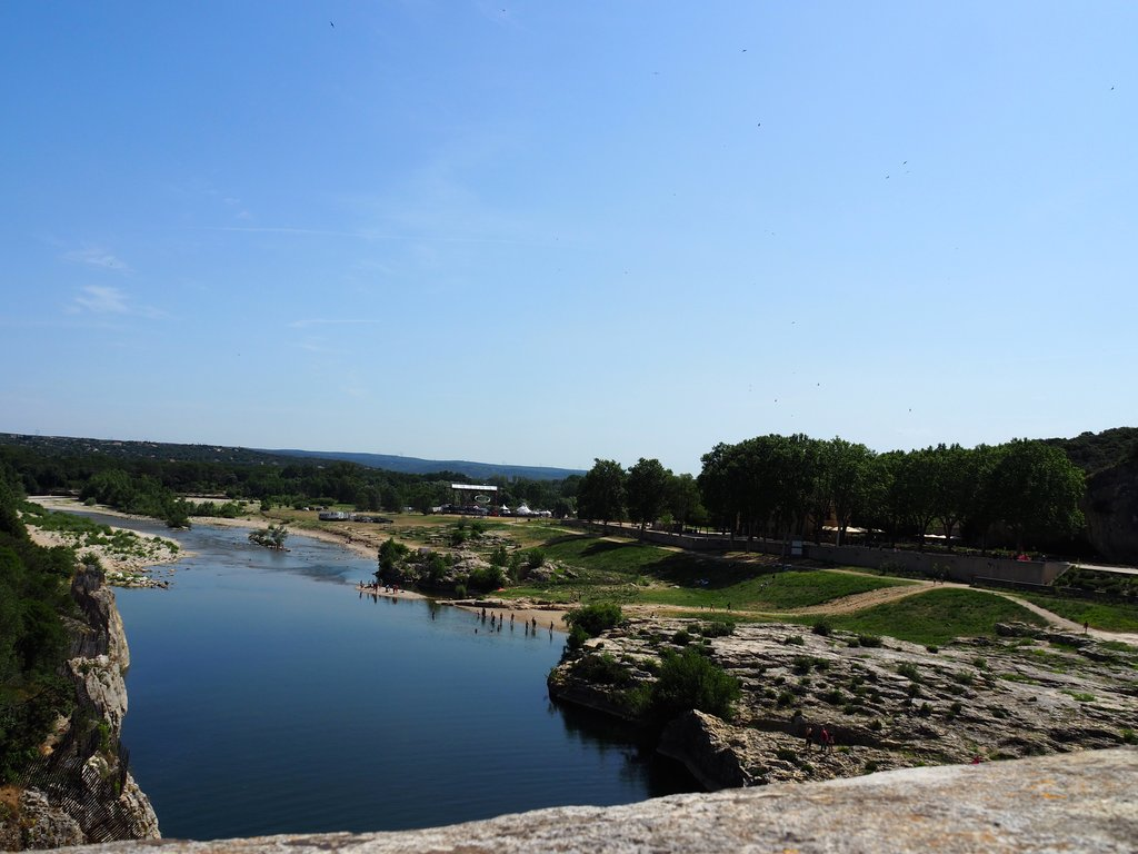 En haut du Pont du Gard