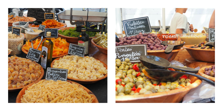 Le marché à Ajaccio en Corse
