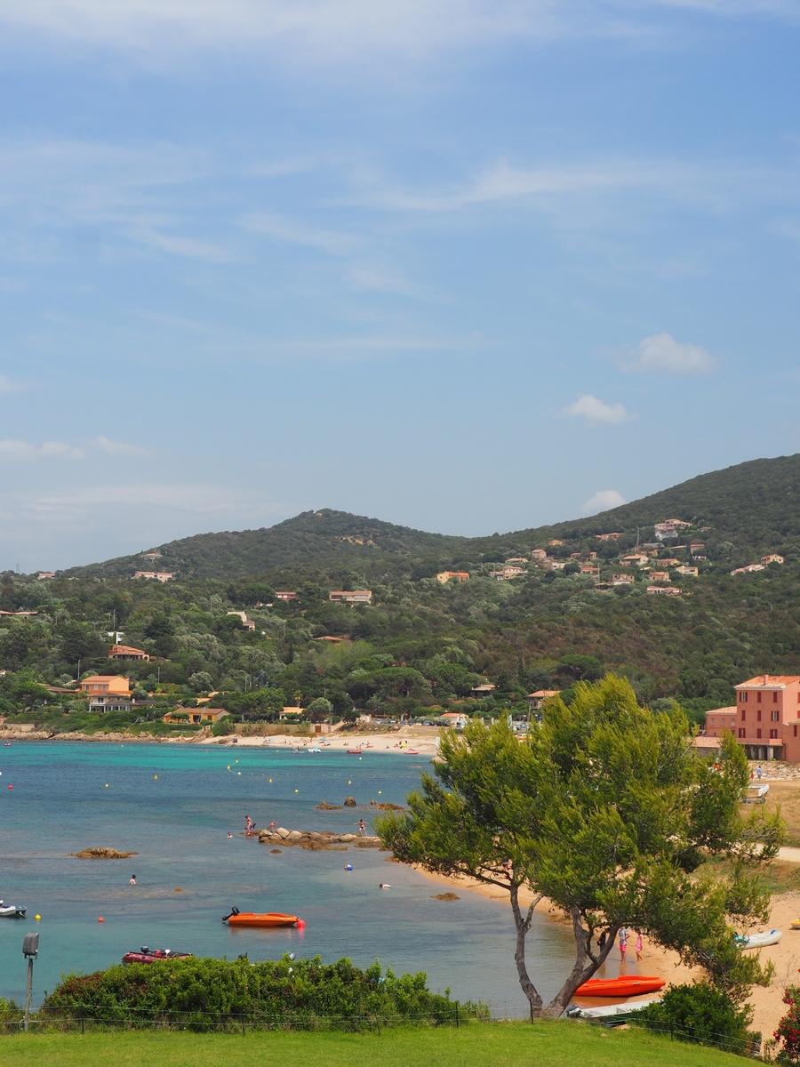 Vue du restaurant Chez Mico, Portiglio en Corse