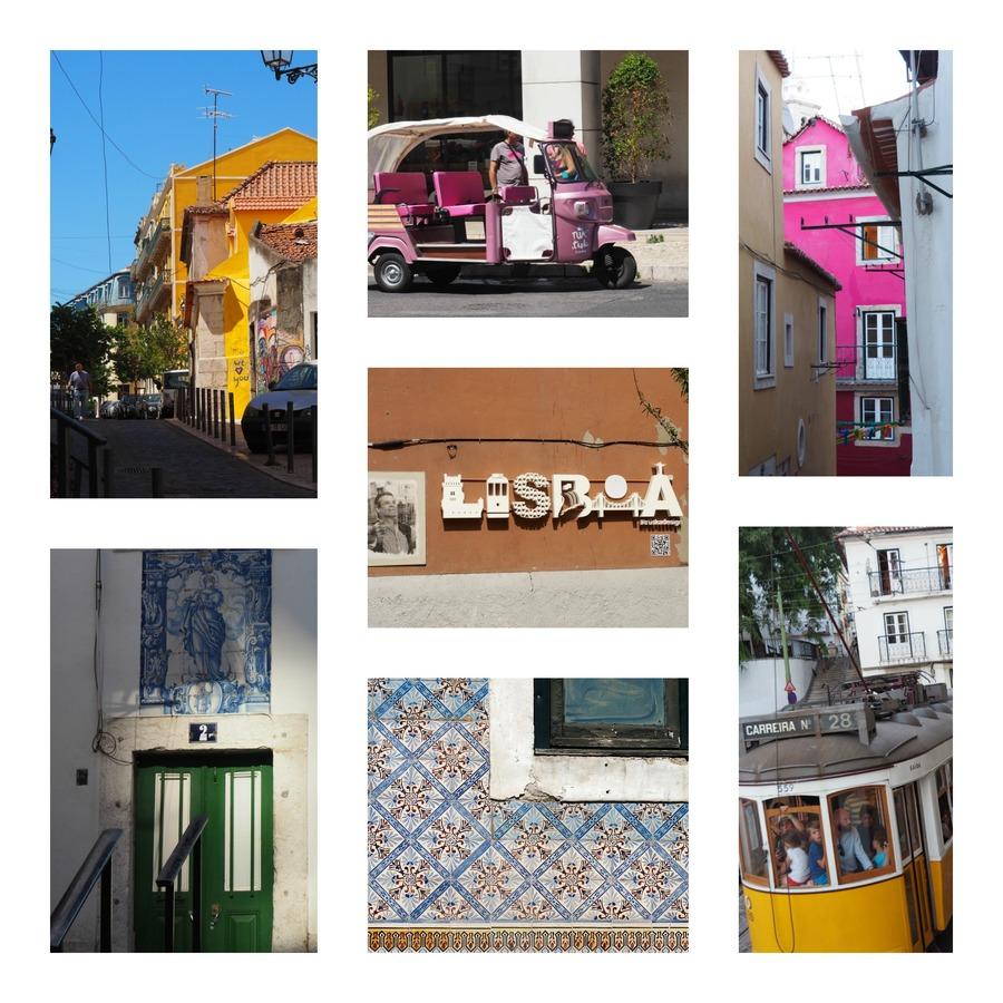 Le quartier coloré de l'Alfama à Lisbonne