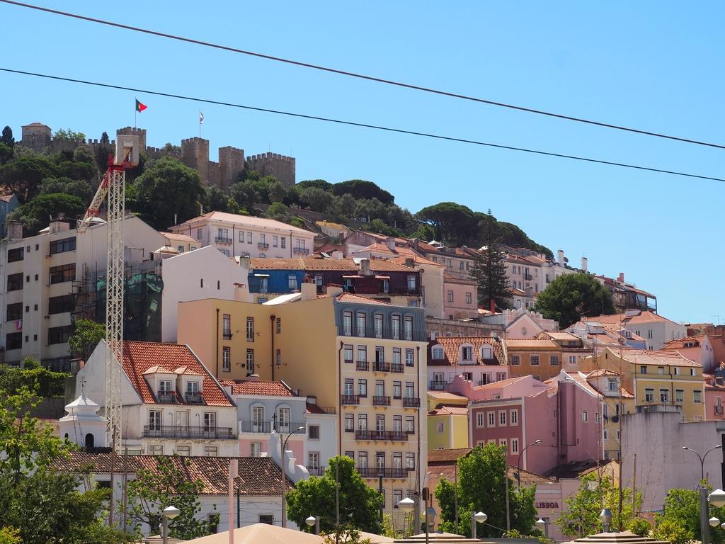 Vue sur le quartier de l'Alfama à Lisbonne