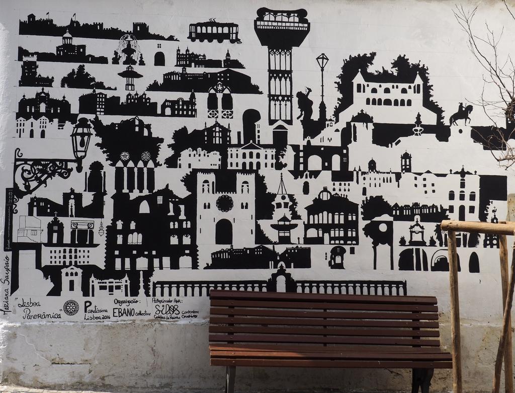 Street art dans l'Alfama à Lisbonne