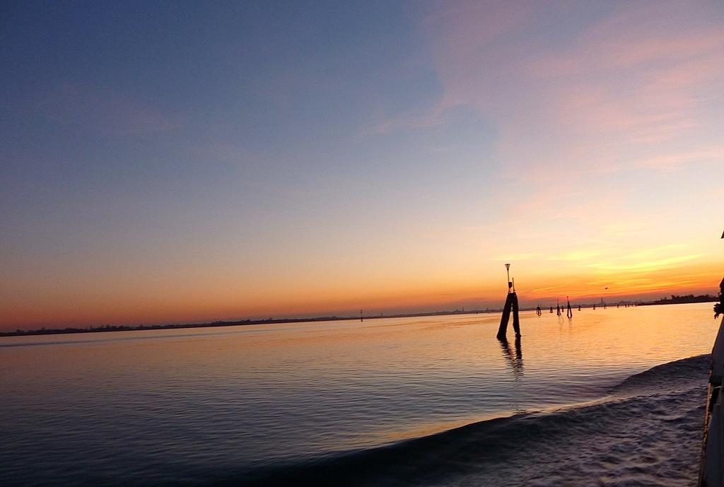 Venise en hiver, coucher de soleil