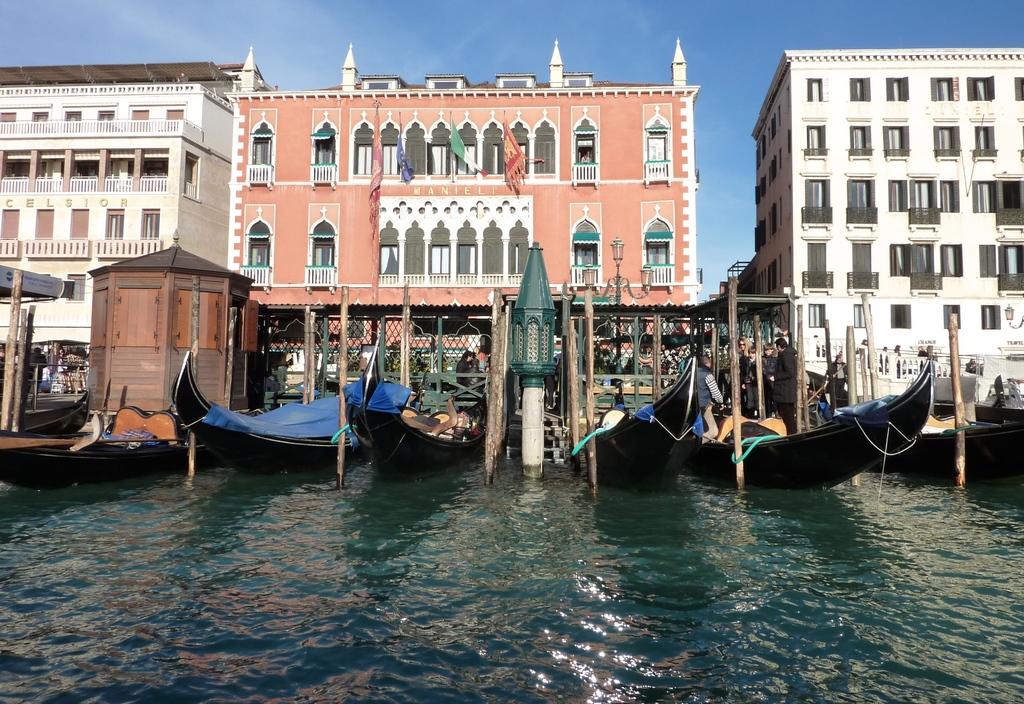 Venise en hiver, vue sur l'hôtel Danielli