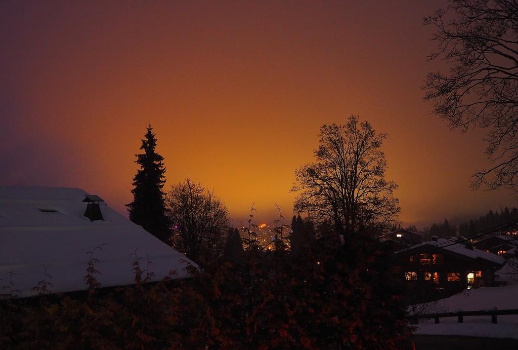 Megève en hiver, son coucher de soleil