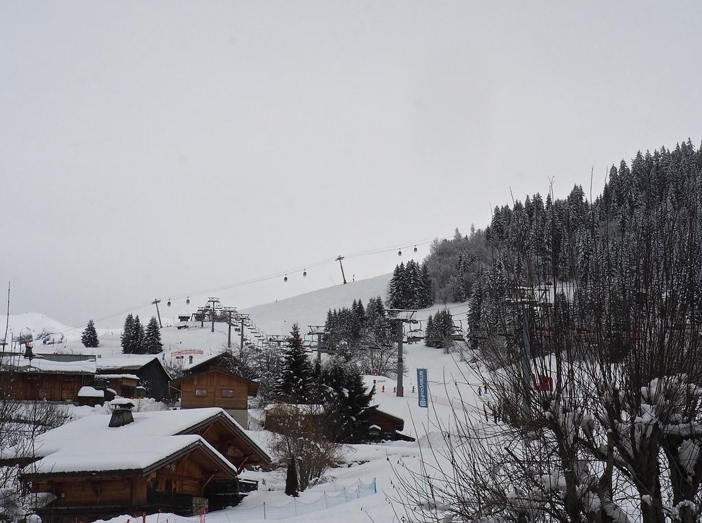 Megève en hiver, vue des Grands Champs
