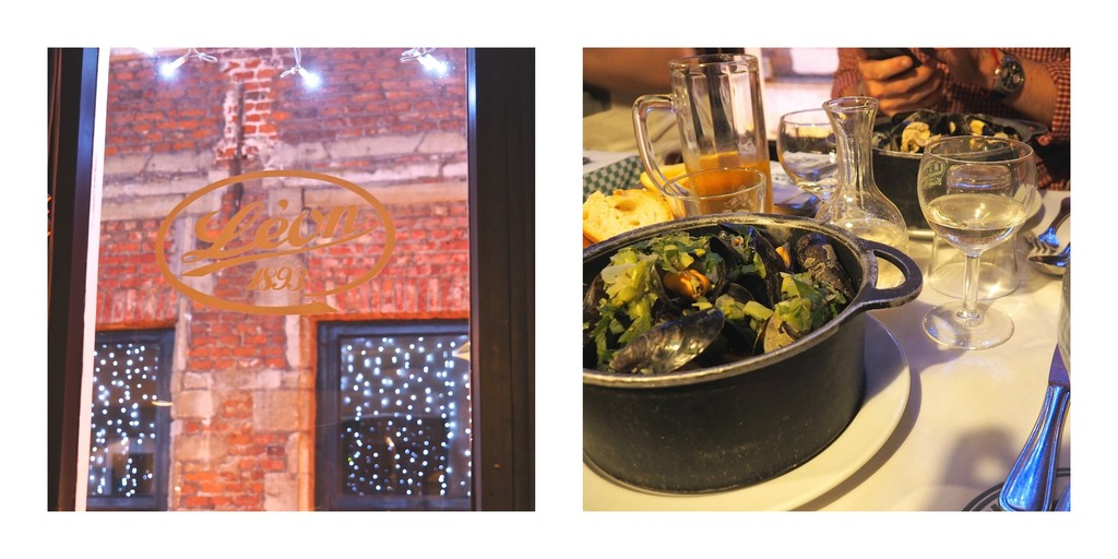 Où manger à Bruxelles ? Manger les moules frites Chez Léon de Bruxelles !