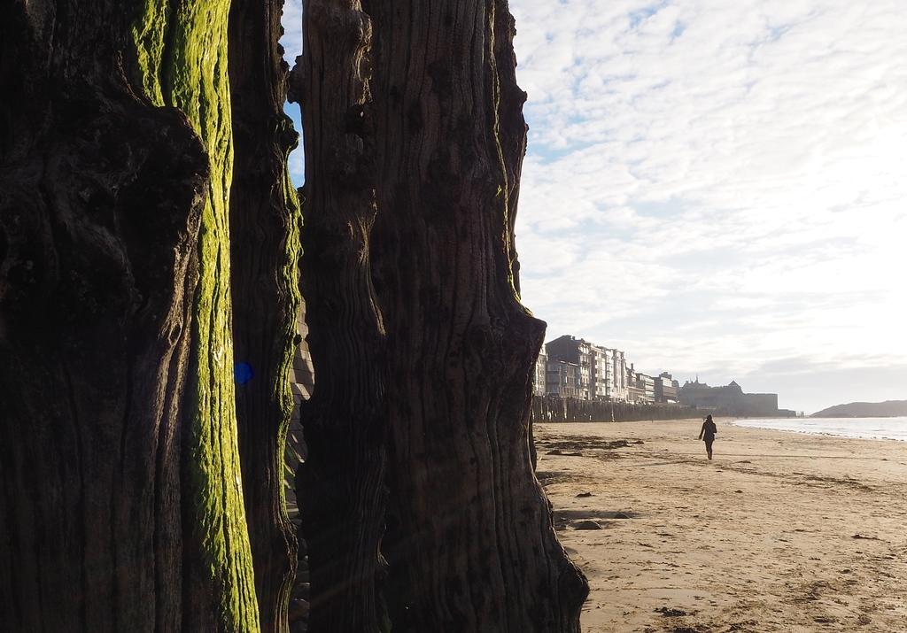 Les brise-lames de la plage du Sillon à Saint-Malo