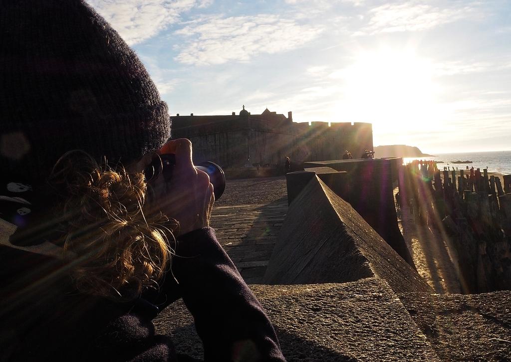 Coucher de soeil sur les remparts de Saint-Malo