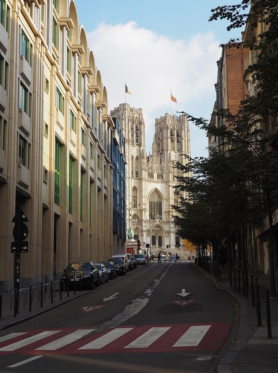 Visiter Bruxelles en famille, que faire 4 jours ? - Perspective sur la Cathédrale Saints-Michel et Gudule