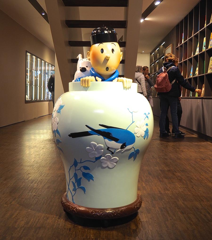 Visiter Bruxelles en famille, que faire en 4 jours ? Boutique Tintin