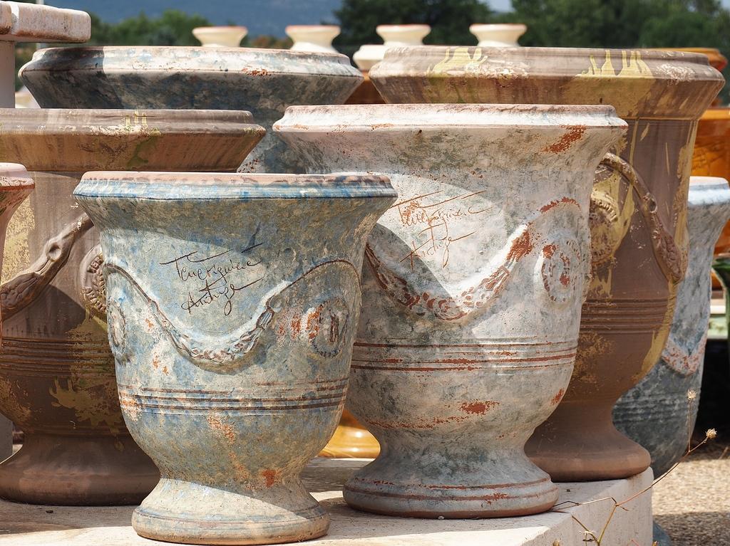 La Bambouseraie à Anduze, vases Anduze, la poterie Terre Figuière