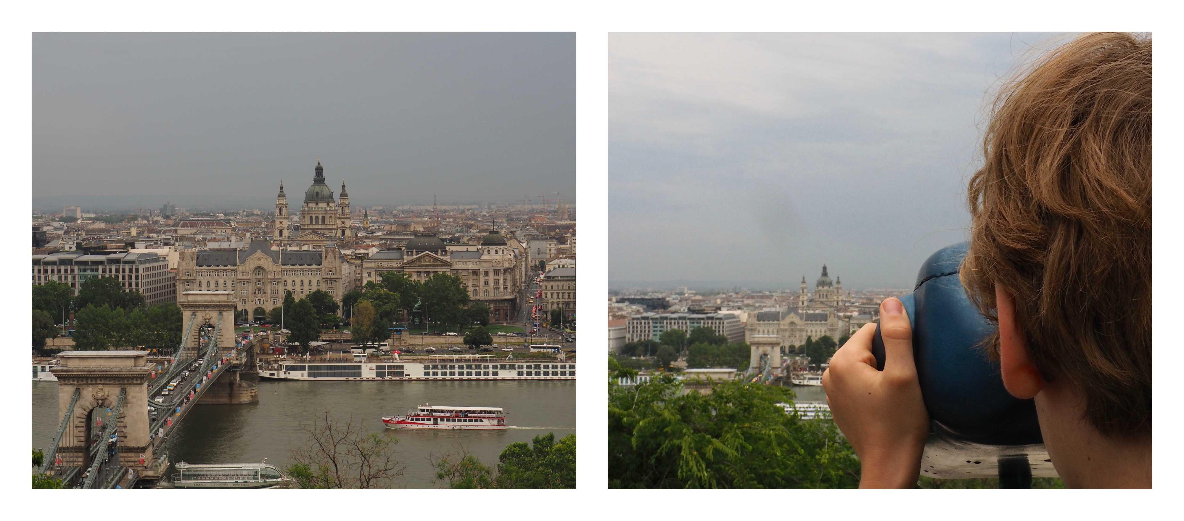 Visite de Budapest en famille, itinéraire sur 5 jours. Balade dans le quartier du château - Vue sur Pest et le pont des Chaînes