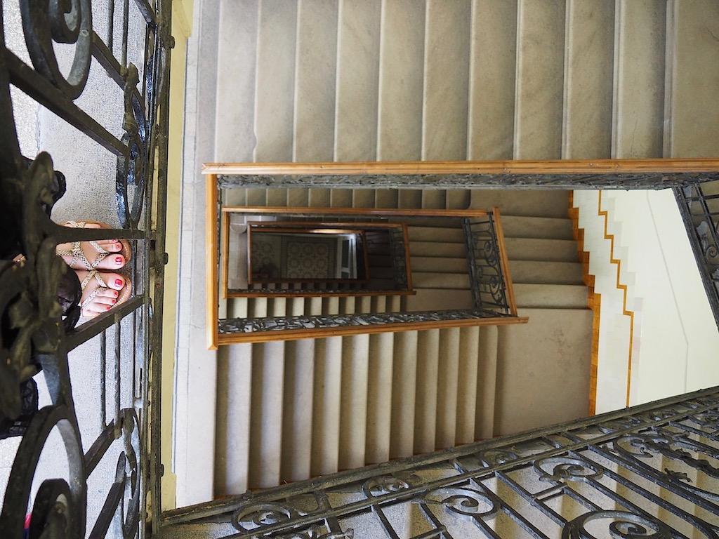 Visite de Budapest en famille, itinéraire sur 5 jours. La cage d'escalier !