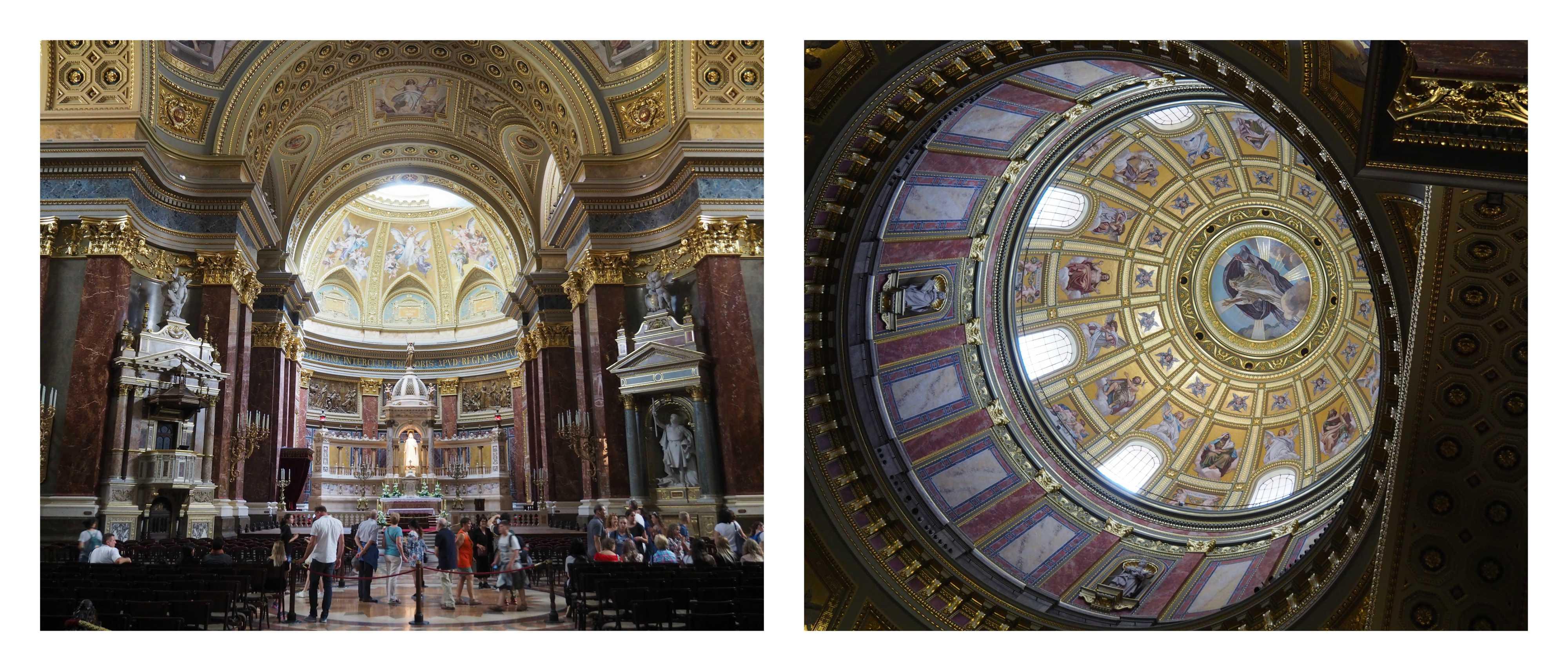 Visite de Budapest en famille, itinéraire sur 5 jours -Intérieur de la Basilique Saint-Etienne