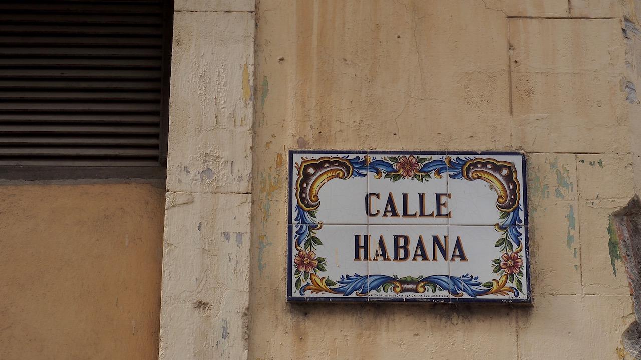 3 jours à la Havane - calle Habana