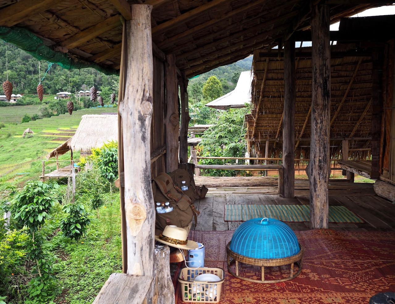 Une nuit dans les rizières de Ban Pa Pong Pieng dans la province de Chiang Mai : notre guest house