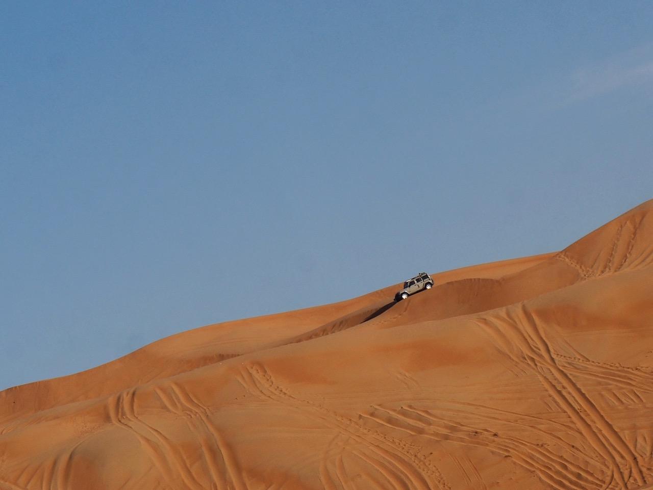 Voyage à Oman, dune bashing dans le désert de Wahiba Sands