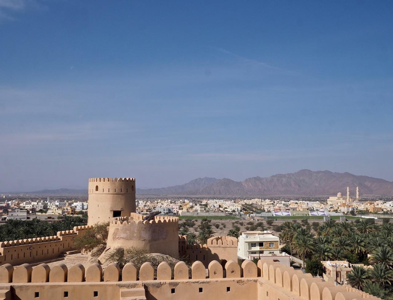 Voyage à Oman, le vue du haut du Fort de Nakhal