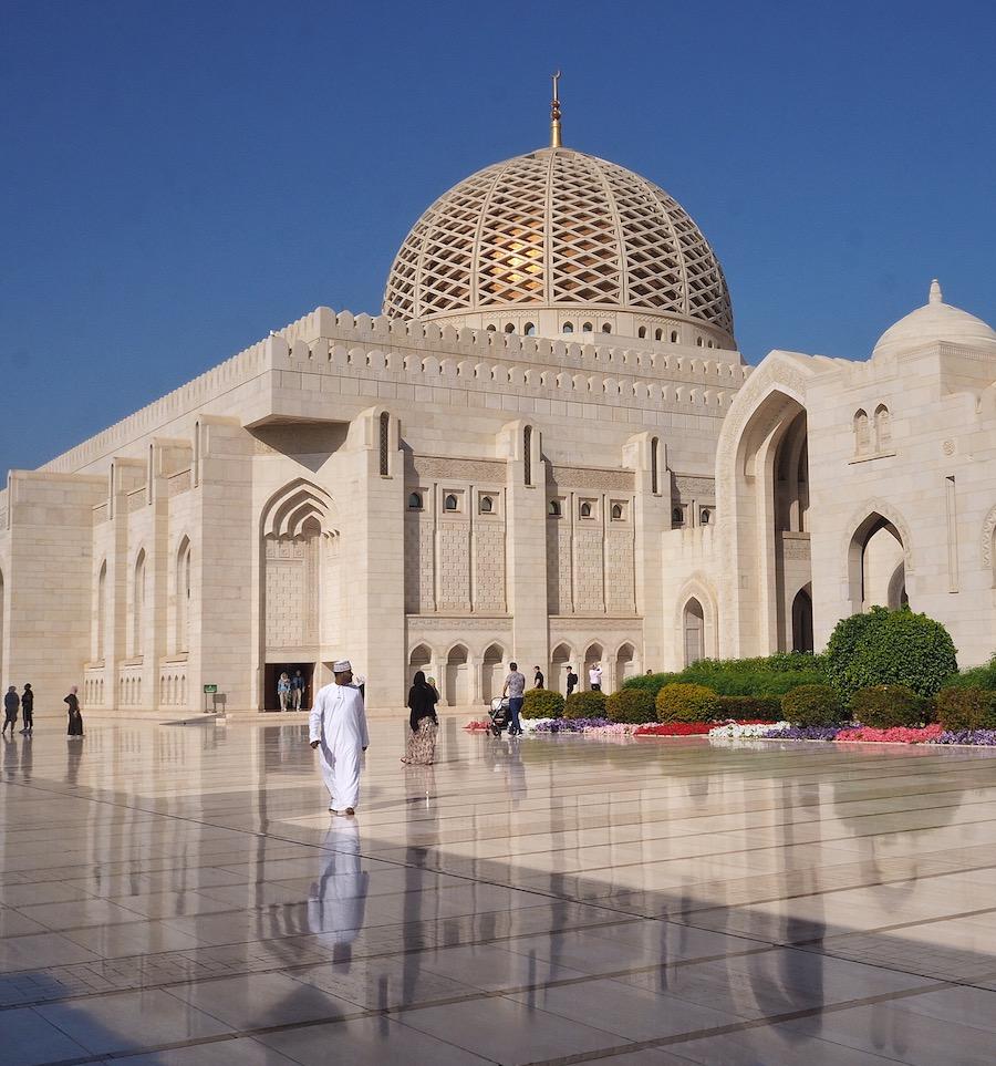 Voyage à Oman, la Mosquée du Sultan Qaboos à Mascate