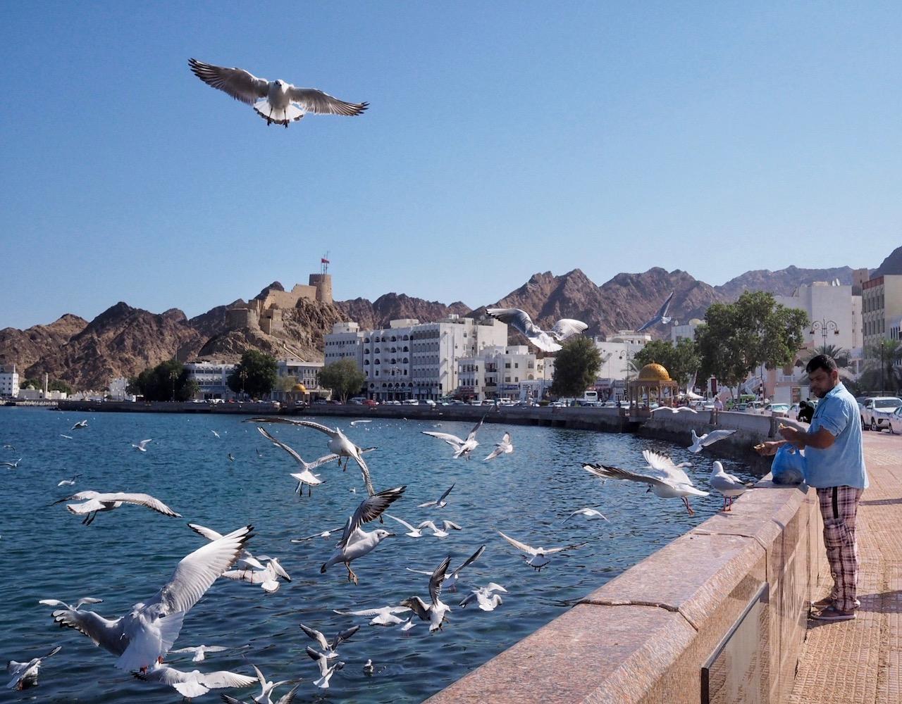 Voyage à Oman, le long de la corniche de Mutrah à Mascate