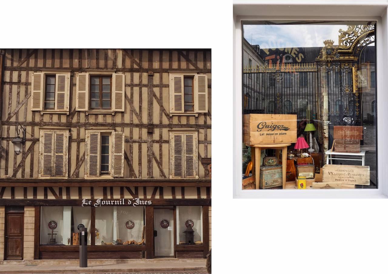 Week-end en Aube en Champagne - façade et vitrine de Troyes