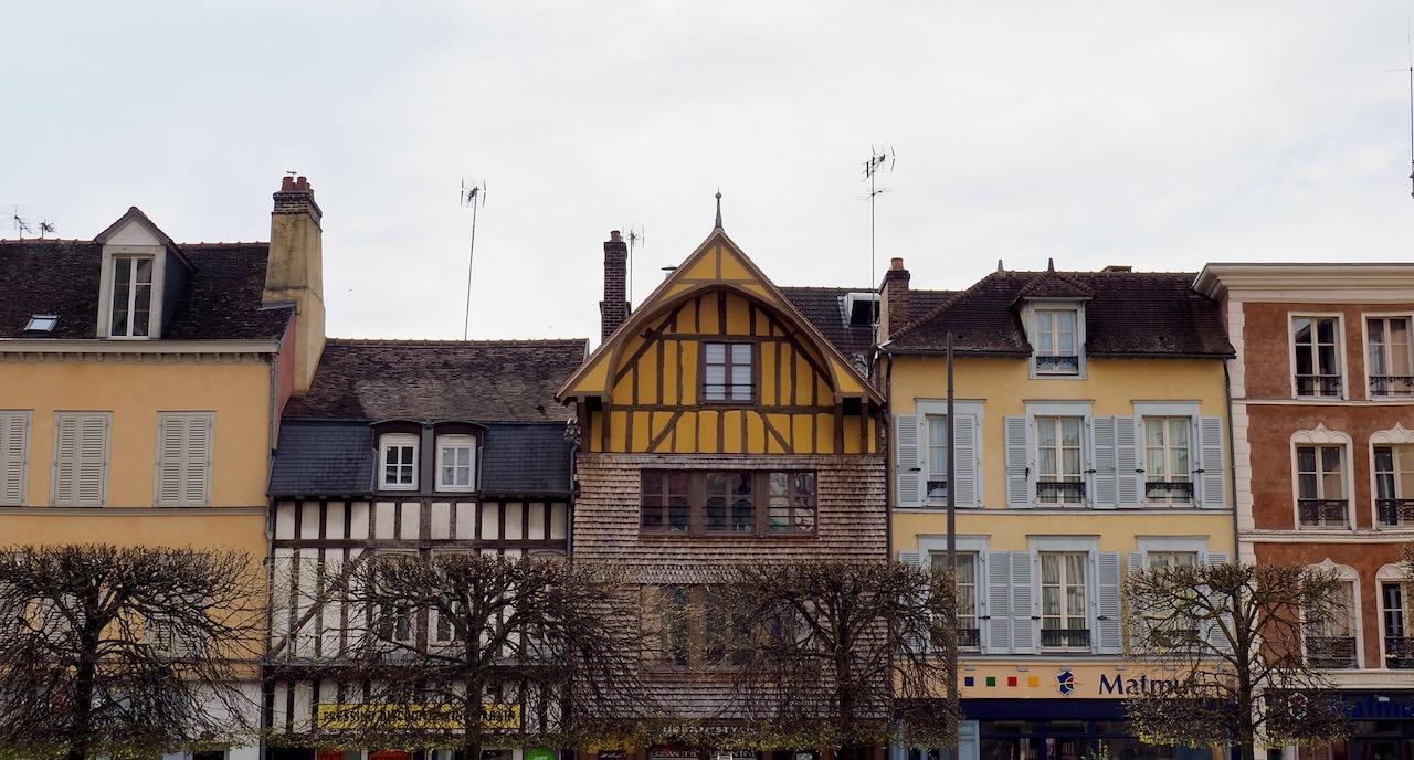 Week-end en Aube en Champagne - façades colorées de Troyes
