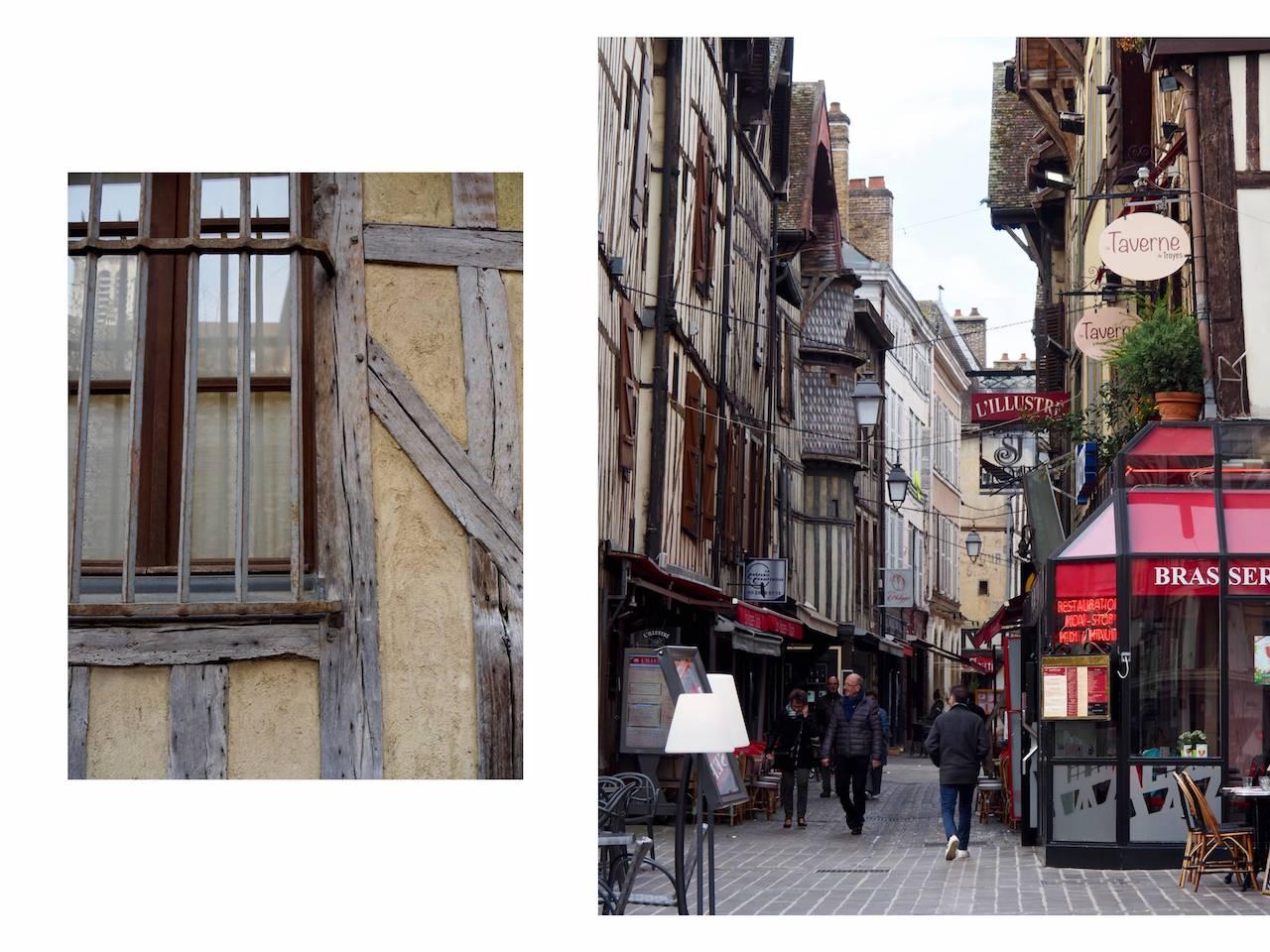 Week-end en Aube en Champagne - rue animée de Troyes
