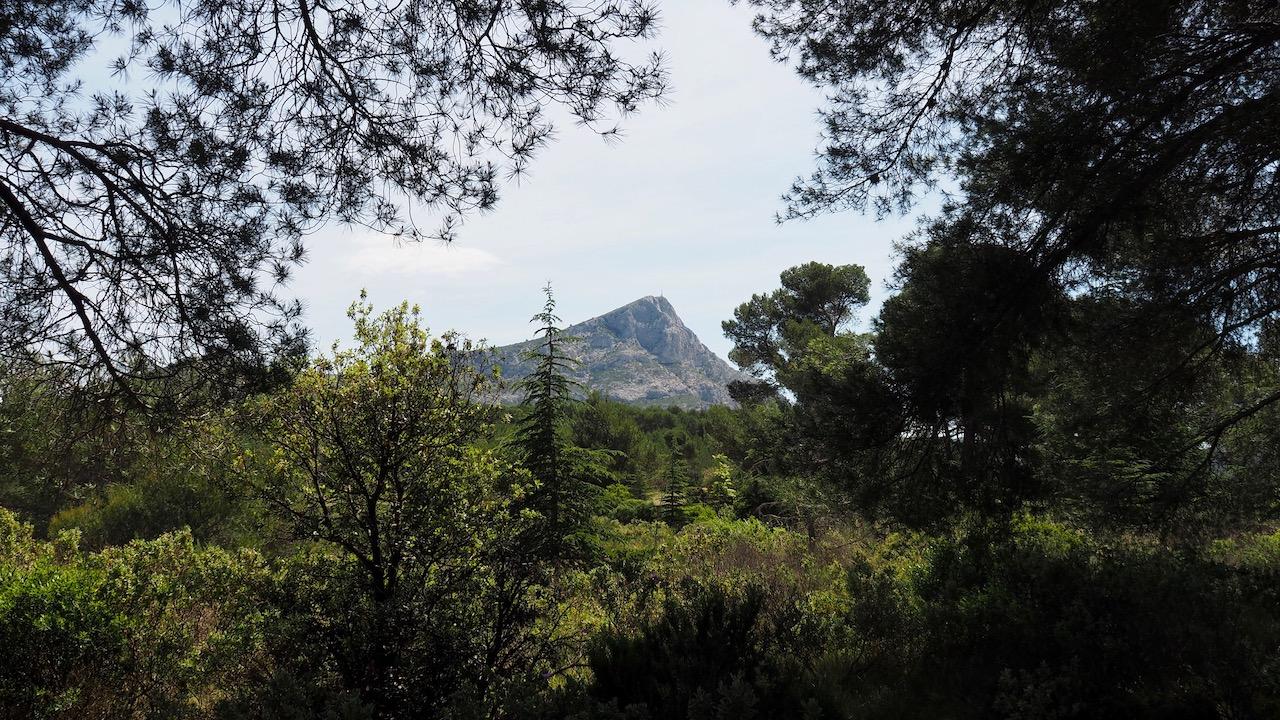 Vue sur le montagne Sainte-Victoire